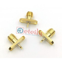 SMA Female 2 Hole Panel Mount Connector without Teflon