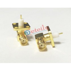 SMA (F) R/A 4 Hole Panel Mount 6mm Teflon Connector