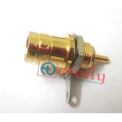 BNC (F) B/H Solder type Gold Plated