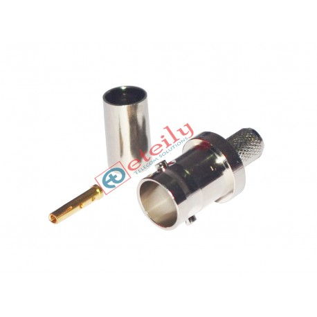 BNC (F) Straight Connector for RG59 Cable ETEILY