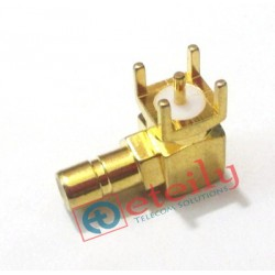 SMB Male R/A PCB Mount Connector ETEILY