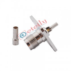 TNC (F) 4 Hole Panel Mount Connector for RG174 Cable - Eteily Technology