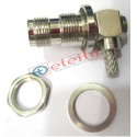 TNC (F) BH R/A Connector for RG58 Cable