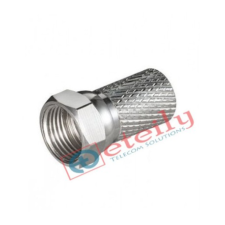 F Connector For Rg 6 (CCTV F Connector , TV Aerial Cable Screw Twist Coax F Rg 6 Wire Terminal)
