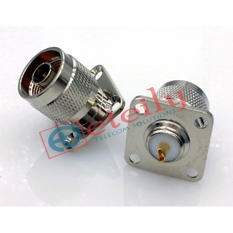 N (M) 4 Hole Panel Mount Connector - Eteily Technology