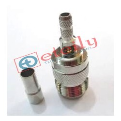 N (F) St. Connector for RG58 Cable