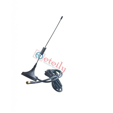 Wi-Fi 3dBi Spring Magnetic Antenna with RG 58 Cable | SMA Male Connector ETEILY