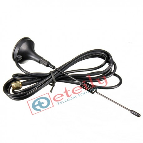 Wi-Fi 3dBi Spring Magnetic Antenna with RG 174 Cable | SMA Male Connector ETEILY
