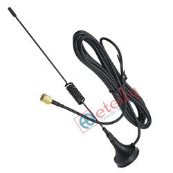 Wi-Fi 5dBi Spring Magnetic Antenna with RG174 Cable | SMA Male Connector