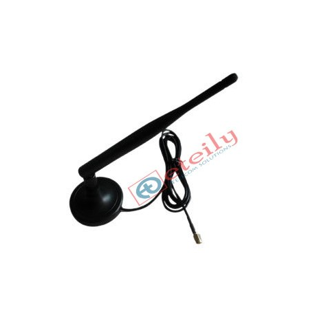 3G 5dBi Rubber Magnetic Antenna with SMA Male Movable Connector ETEILY